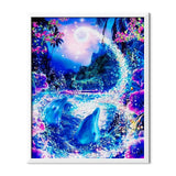 Dolphins On Crystal Light Diamond Painting - 1