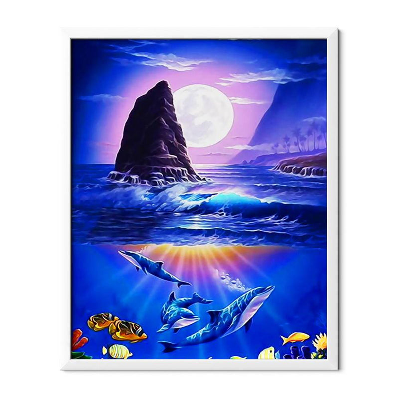 Flock Of Dolphins Diamond Painting - 1