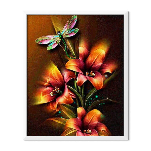 Dragonfly And Lilies Diamond Painting - 1