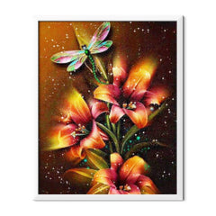 Diamond Painting Dragonfly And Lilies