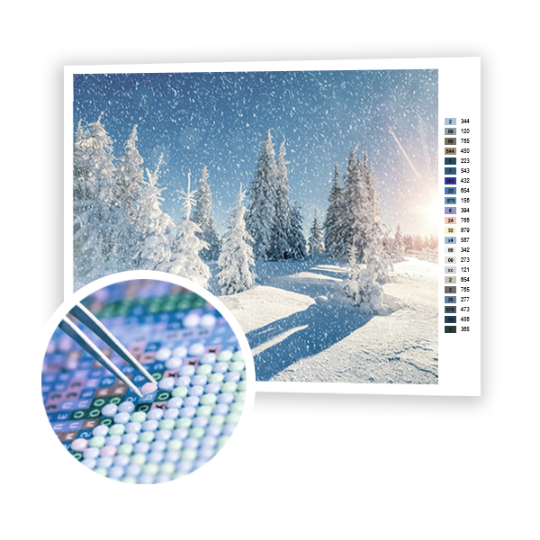 Diamond Painting Winter beauty