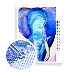 Diamond Painting Blue Elephant