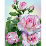 Diamond Painting Rose with water drops