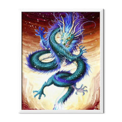 Diamond Painting Blue Dragon