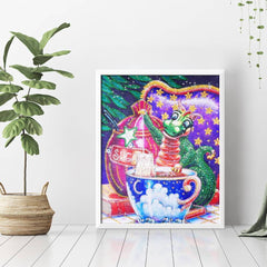 Diamond Painting Cartoon Dragon