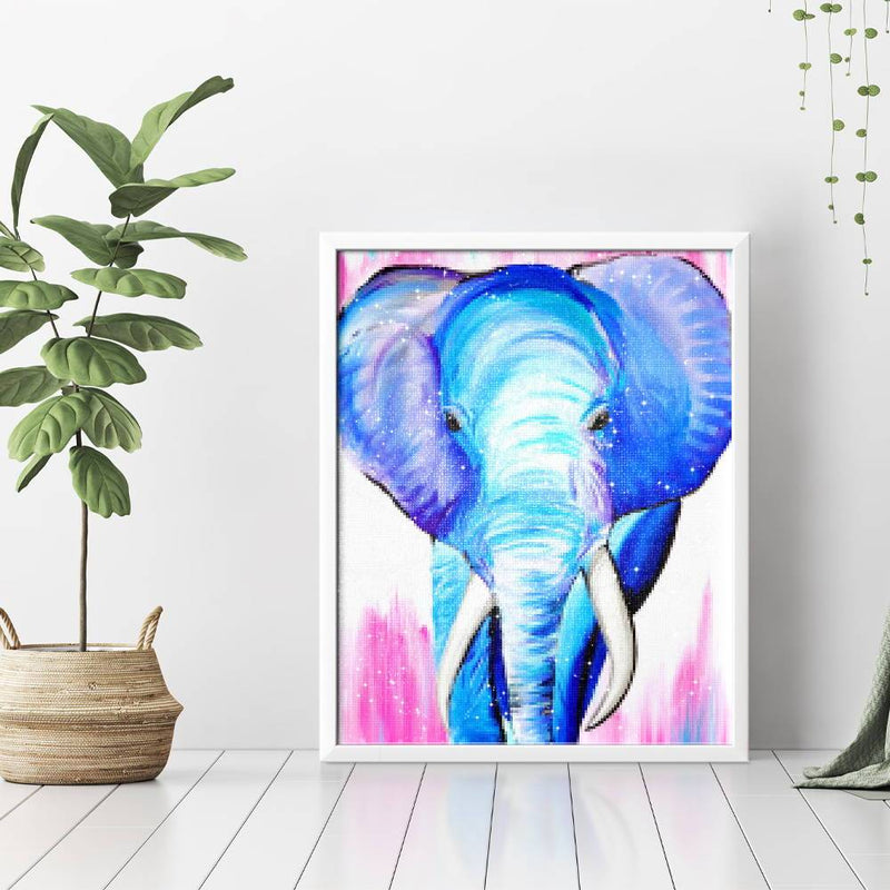 Blue Elephant Diamond Painting - 3