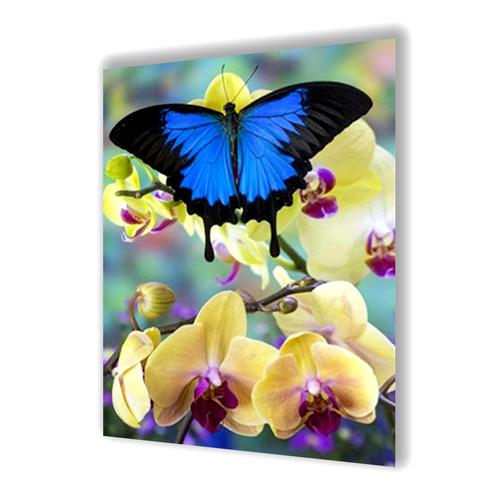 Butterfly And Orchid Diamond Painting - 1