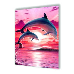 Diamond Painting Dolphins In The Sunset
