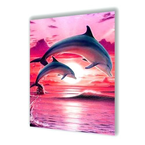 Dolphins In The Sunset Diamond Painting - 1