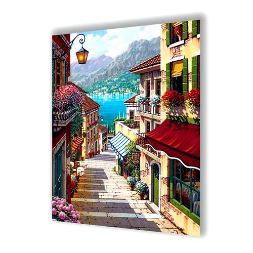 Mediterranean Town Diamond Painting - 1