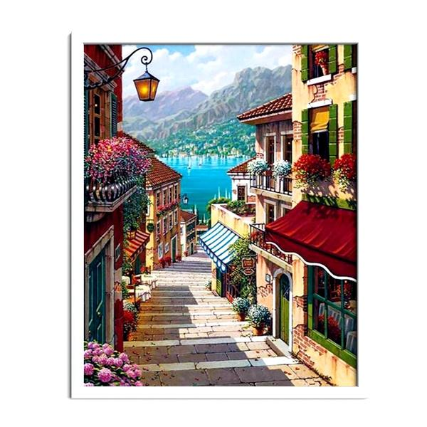Mediterranean Town Diamond Painting - 2