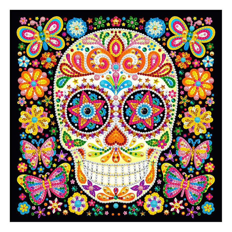 Diamond Painting Glowing laughing skull