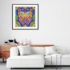 Diamond Painting Glowing multicolored butterfly