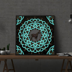 Diamond Painting Glowing mandala #5
