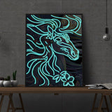 Diamond Painting Glowing running horse