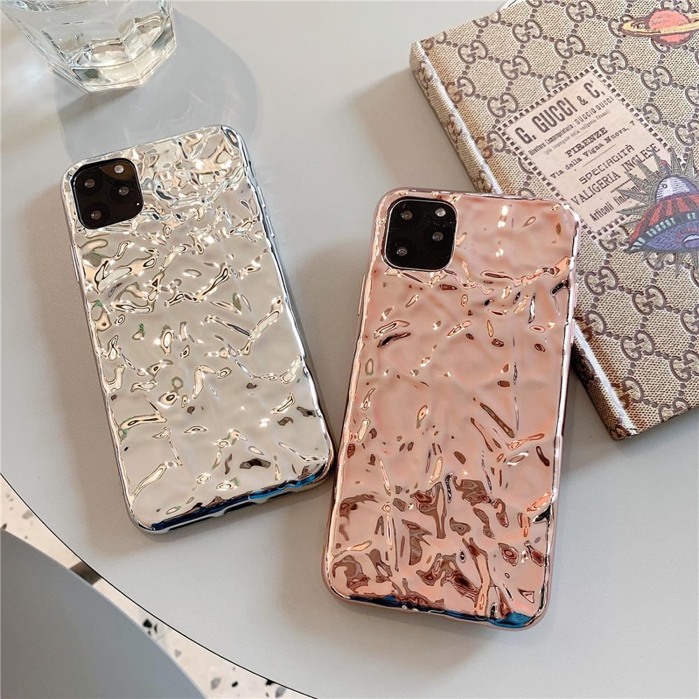 3D Dream Shell Plating Silver Gold Foil Phone Case for iphone XS 11 Pro Max XR X 6 6S 7 8 Plus Glitter Soft Silicone Back Cover