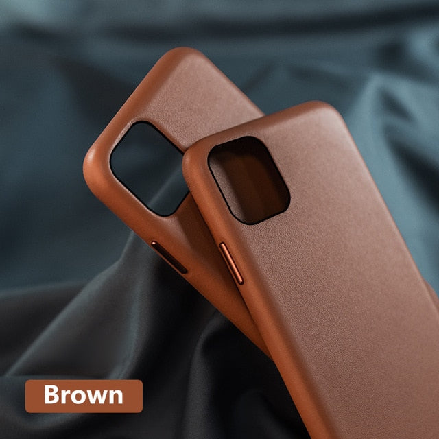 Original Genuine Leather Case for iPhone 11 Case Real Leather Luxury Back Phone Cover for iPhone 11 Pro Max X XR XS Max Case