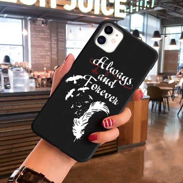 The Vampire Diaries Stefan Damon Salvatore black TPU Soft Silicone Phone Case For iPhone 11 Pro Max  6 7 8 plus X XS XR XS Max