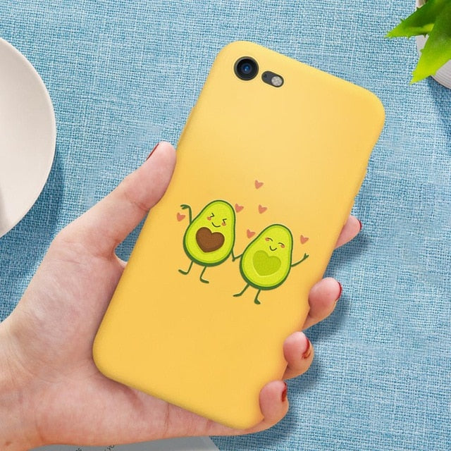 Cute cartoon Protective Phone Case For iPhone 8 7 6 6s Plus 5 5S SE soft TPU Case For iPhone XS Max X 11 XR Silicone Cover Coque