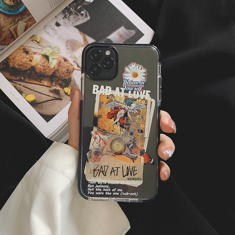 Graffiti Letter Case For iPhone 11 11Pro Max SE 2020 X XR XS Max 7 8 Plus Phone Case  Soft Silicone Back Cover