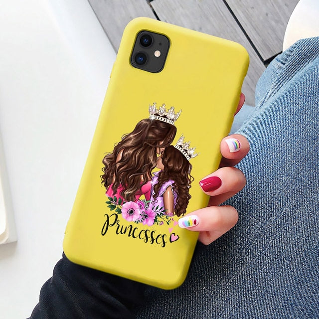 Candy Phone Case For iphone 11 SE 2020 Super Dad Mom Baby Girl Fashion Family Coque for Iphone 11 Pro Max X XS Max XR 6 7 8 Plus