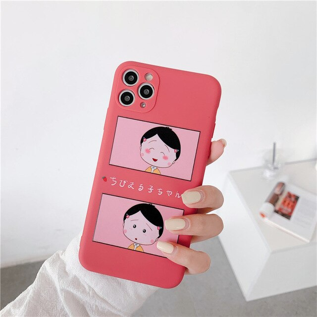 Cartoon Sailor Moon Simple Phone Cases For iPhone 11 Pro MAX Case Liquid Silicone Cover Case For iPhone 6 S 7 8 Plus X XS Max XR