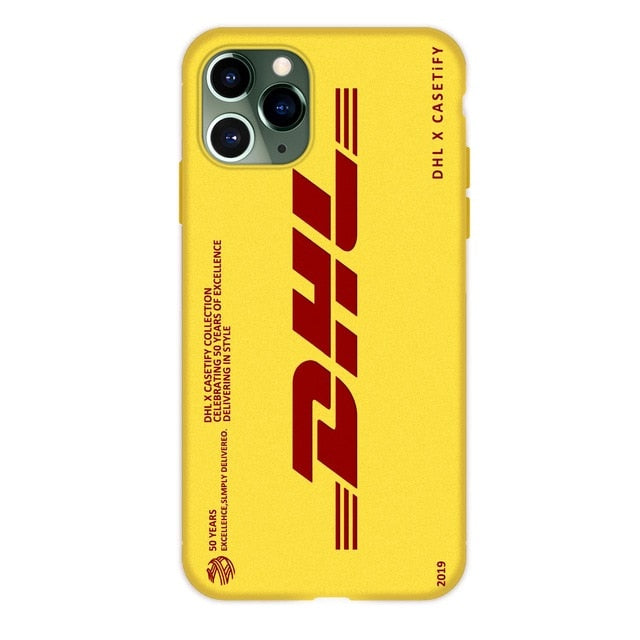 Dhl Express Soft Case For Iphone 12 11 Pro X Xs Max Xr 8 7 6 6s Plus Matte Silicone Phone Cover 50th Anniversary Coque Fundas