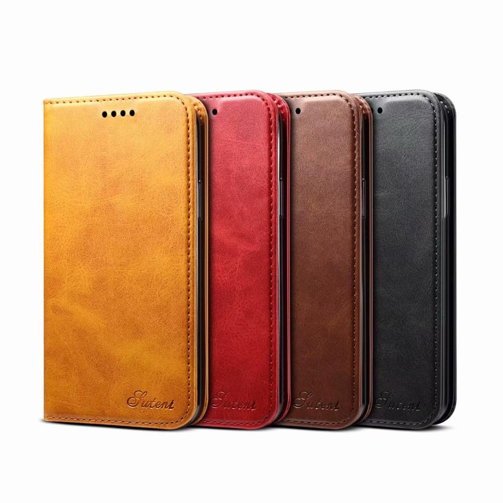 YXAYN Classic Style Leather Flip Wallet Case Magnetic Card Holder Phone Cover For iPhone  X XS  8 7 Plus 11 Pro MAX