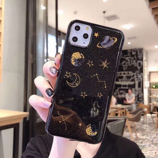 Glitter Planet Star Case for Huawei P40 P30 P20 P10 P9 P8 Lite 2017 P Smart Z Plus 2019 Mate 10 20 X 30 Pro Soft Silicone Cover