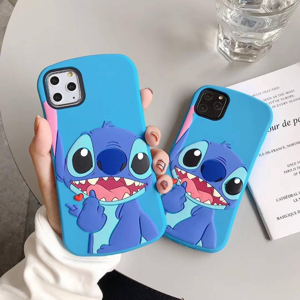 3D Cartoon Cute Slim Stitch Silicone Back Cover For iPhone 5 5s SE 5C 6 6s X XR Xs 11 Pro Max 7 8 Plus Phone Cases Fundas Coque