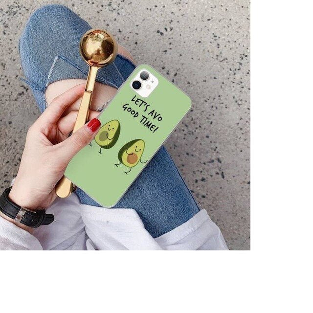 Babaite cute cartoon fruit avocado  DIY phone Case cover Shell for iPhone 11 pro XS MAX 8 7 6 6S Plus X 5 5S SE XR SE2020