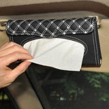 Sleek Leather Tissue Holder - Red Robin