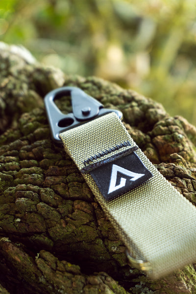 ADVNTR X Straight Cut Design Keyring