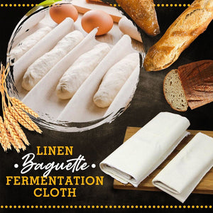 Linen Baguette Fermentation Cloth