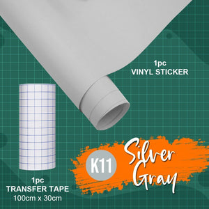 Decorative Glossy Adhesive Vinyl Film and Transfer Paper Set