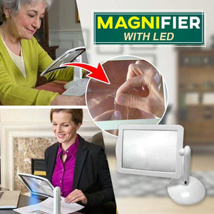 Hands-Free Desktop Magnifier with LED