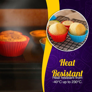 Reusable Silicon Baking Cups (6Pcs Set)