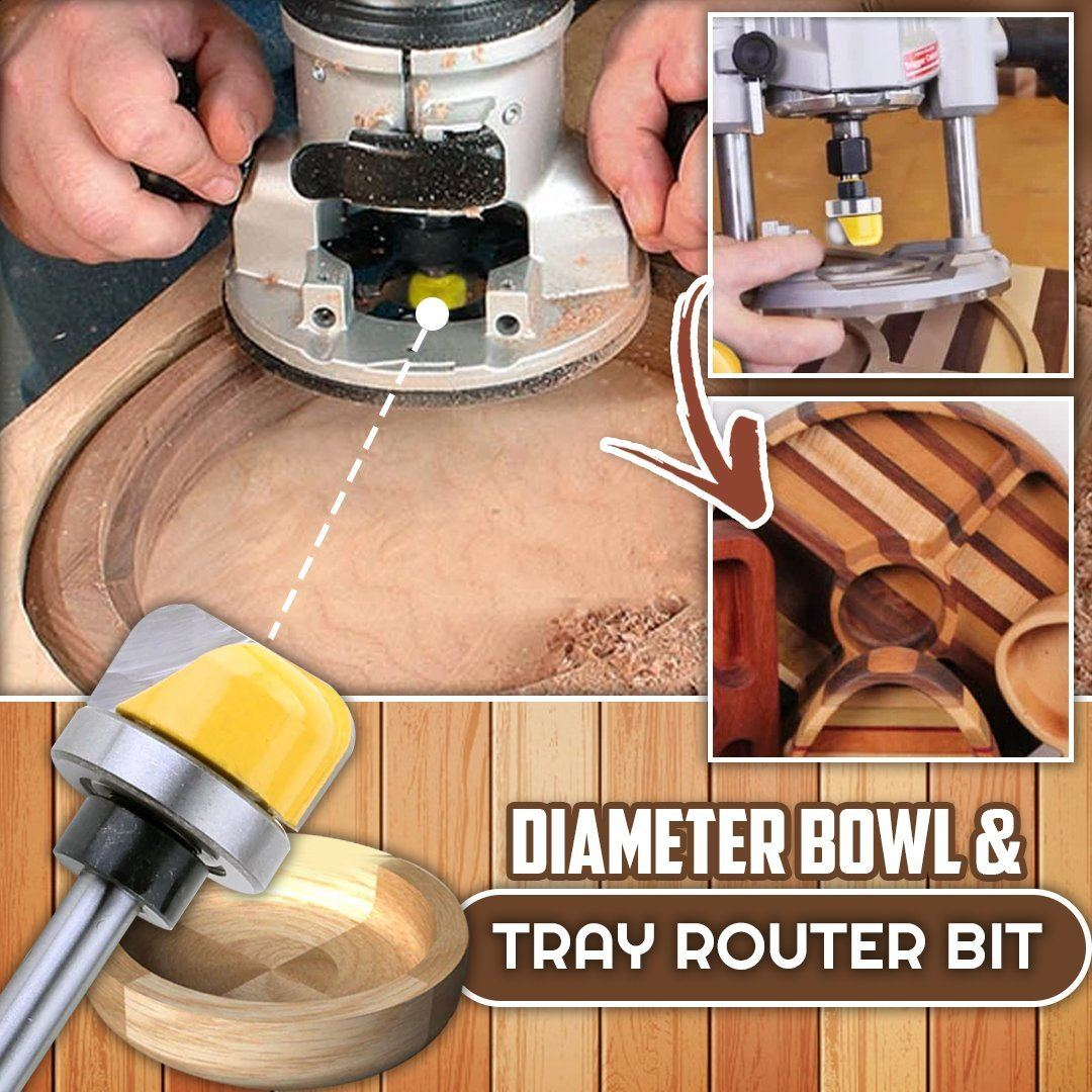 Diameter Bowl & Tray Router Bit