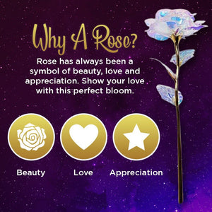 Star Gold Foil Rose Decoration