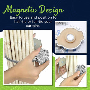 Elegant Magnetic Curtain Holder