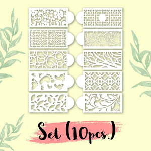 Cake Decoration Stencil (10 PCS in 1 SET)