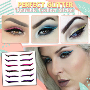 Perfect Glitter Reusable Eyeliner Sticker