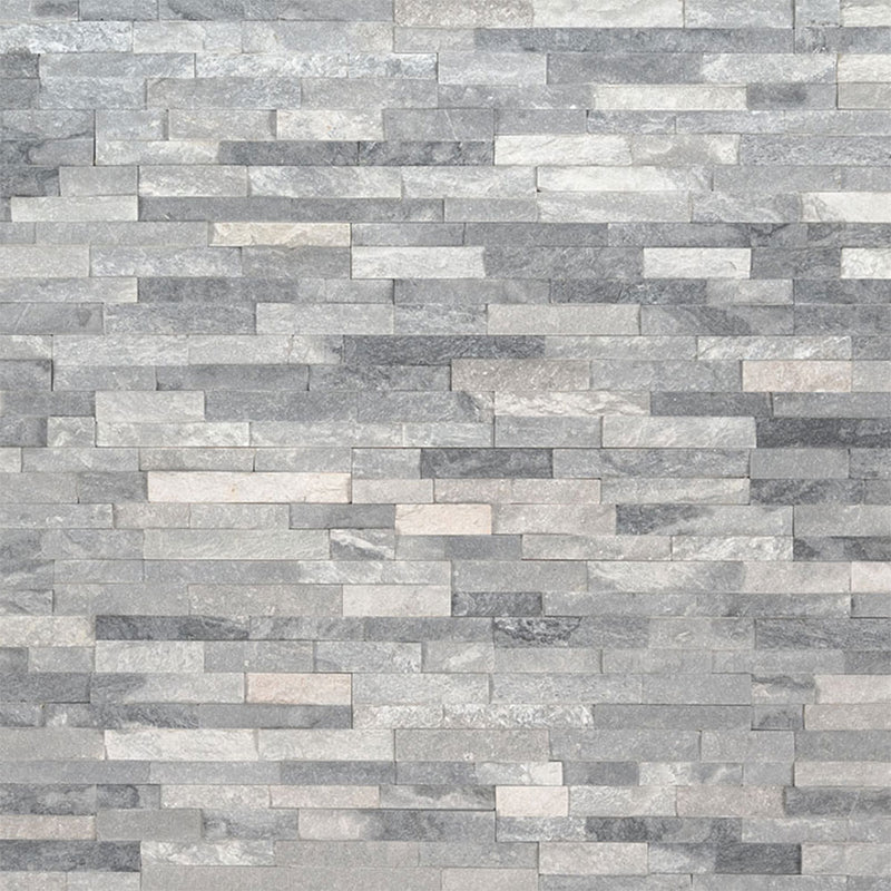 "MS International Mini Stacked Stone 4.50"" x 16"" Alaska Gray"