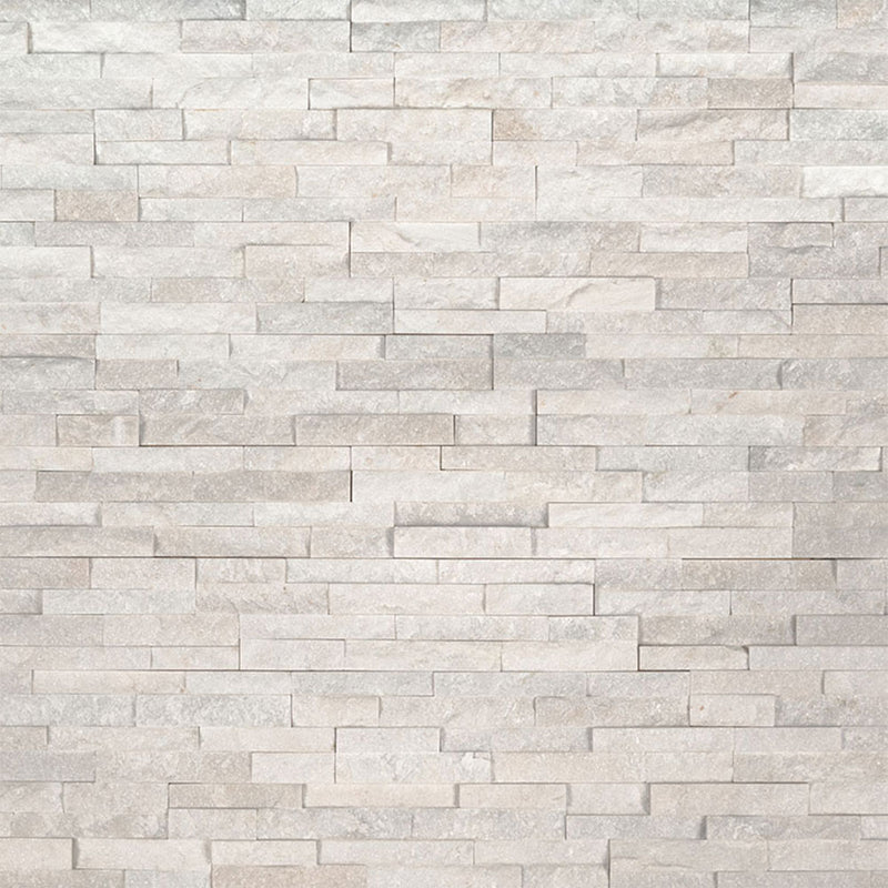"MS International Mini Stacked Stone 4.50"" x 16"" Arctic White"