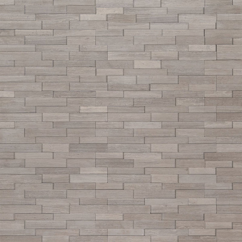 "MS International Mini Stacked Stone 4.50"" x 16"" Gray Oak"