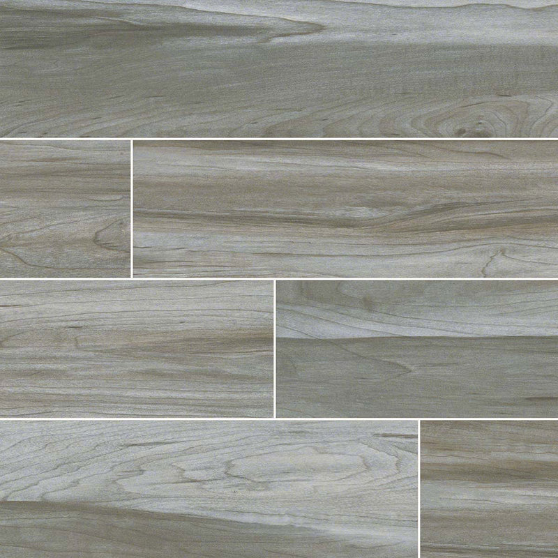 "MS International Carolina Timber 6"" x 36"" Grey"
