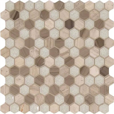 "MS International Decorative Blends 12"" x 12"" Hexham Blend"