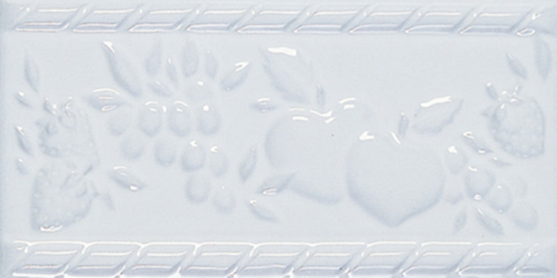 "Interceramic Decorative Accents - Fruit Listel 4"" x 8"" Universal White"