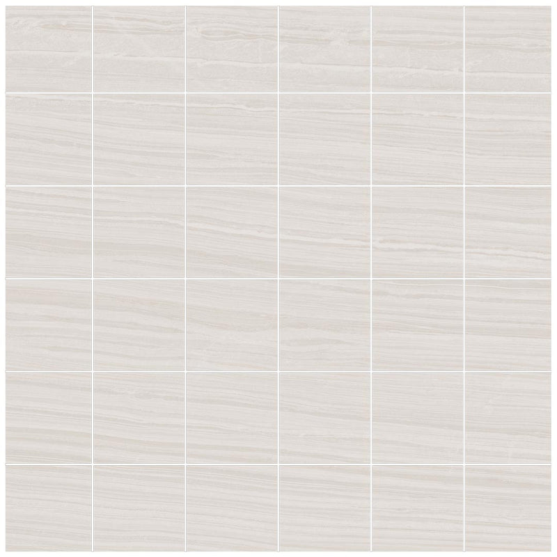 "Angel Collection Jaipur 12"" x 12"" 2 x 2 Blanc"