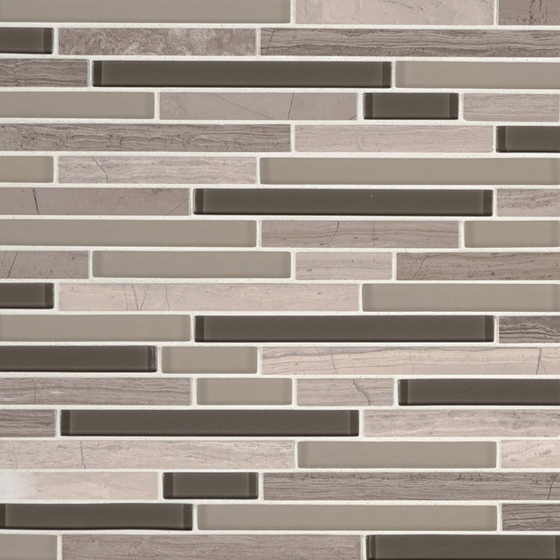 "MS International Decorative Blends 12"" x 12"" Modello Grigio"